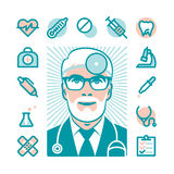 Medical doctor icons Stock Photo
