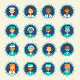 Medical Doctor Icons Set Clinics Hospital Medicine Worker Online Consultation Button Collection Royalty Free Stock Photos