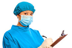 Medical doctor isolated in studio Royalty Free Stock Images