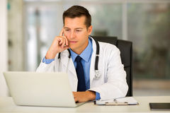 Medical doctor laptop office Stock Photography