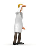 Medical doctor  looks into the distance Stock Photography