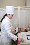 Medical doctor making ECG royalty free stock photos