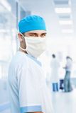 Medical doctor in mask. In hospital Royalty Free Stock Images