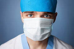 Medical doctor in mask. Close up portrait of medical doctor in mask Royalty Free Stock Image