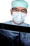 Medical Doctor MD Surgeon. Reading x-ray Royalty Free Stock Photo