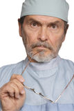 Medical Doctor MD Surgeon. Looking serious Stock Image