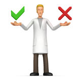 Medical doctor  offers a choice of options Stock Images