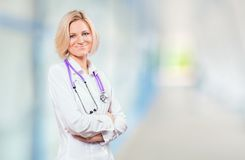 Medical doctor in office Royalty Free Stock Photography