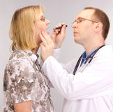 Medical doctor and patient Stock Images