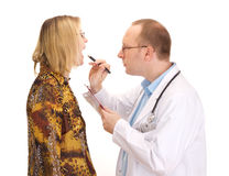 Medical doctor and patient Royalty Free Stock Photo