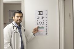 Medical doctor pointing stock photos
