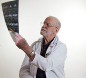 Medical Doctor Readig An X-ray Royalty Free Stock Photo