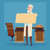 Medical Doctor Senior Practitioner Hold Empty Board Royalty Free Stock Photography