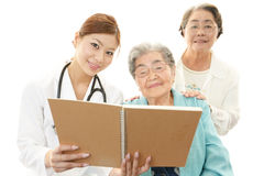 Medical doctor and senior women Royalty Free Stock Photo
