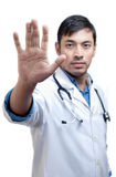 Medical Doctor Showing Palm Royalty Free Stock Photos