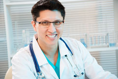 Medical doctor smiling Stock Photo