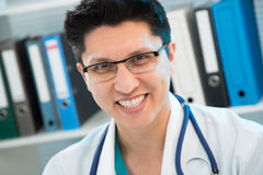 Medical doctor smiling Stock Image