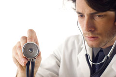 Medical Doctor with Stethoscope Royalty Free Stock Photography