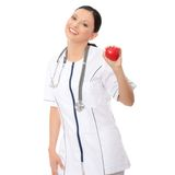 Medical doctor with stethoscope Stock Images