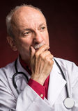 Medical doctor with stethoscope Stock Photography