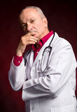 Medical doctor with stethoscope Royalty Free Stock Image