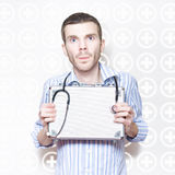Medical Doctor With Stethoscope And First Aid Kit Royalty Free Stock Photography