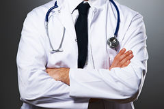 Medical doctor with stethoscope portrait Royalty Free Stock Photos