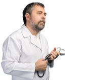 Medical doctor with stethoscope Stock Photos