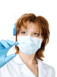 Medical doctor with syringe Stock Photo