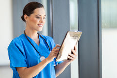 Medical doctor tablet computer Royalty Free Stock Images