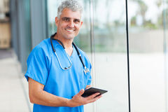 Medical doctor tablet Stock Image