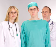 Medical doctor team. Waiting for a patient stock photos