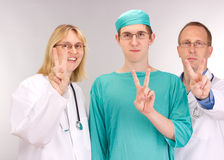 Medical doctor team. Waiting for a patient royalty free stock photography