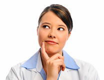 Medical doctor thinking Stock Photos