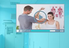 Medical Doctor Video Player App Interface Stock Photography