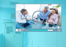 Medical Doctor Video Player App Interface Stock Photo