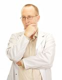 Medical doctor waiting for the next patient Royalty Free Stock Images