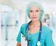 Medical doctor woman Stock Photo