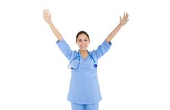 Woman doctor, nurse Stock Images