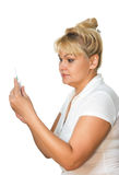 Medical doctor woman with syringe Stock Photo