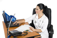 Medical-Doctor at work office Royalty Free Stock Photos