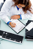 MEDICAL DOCTOR writing subscription Stock Photography