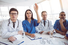 Medical doctors at the conference Royalty Free Stock Photography