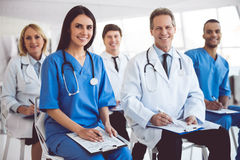 Medical doctors at the conference Royalty Free Stock Images