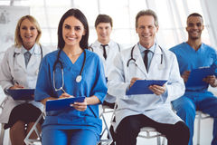 Medical doctors at the conference Royalty Free Stock Photo