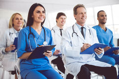 Medical doctors at the conference Royalty Free Stock Image