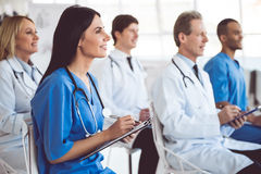 Medical doctors at the conference Stock Photography