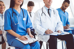 Medical doctors at the conference Royalty Free Stock Photos