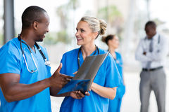 Medical doctors discussing Stock Photography