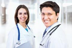 Medical doctors. At a hospital Stock Photos